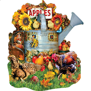Fall Watering Can - Shaped Jigsaw Puzzle