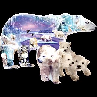 Polar Bear World - Shaped Jigsaw Puzzle