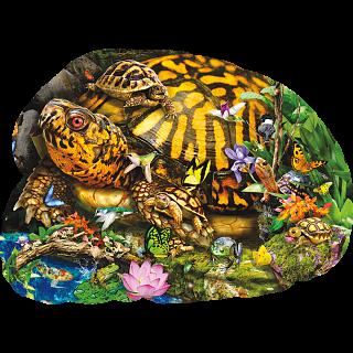 Tortoise Crossing - Shaped Jigsaw Puzzle