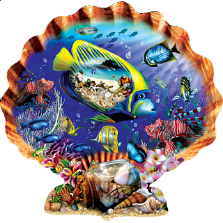 Souvenirs of the Sea - Shaped Jigsaw Puzzle