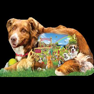 Dog Park - Shaped Jigsaw Puzzle
