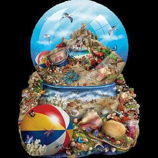 Sand Castle - Shaped Jigsaw Puzzle