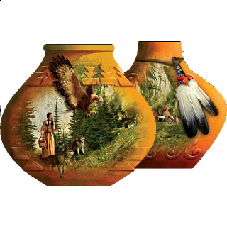 Indian Pots - Shaped Jigsaw Puzzle