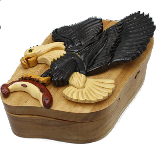 Eagle in Flight - 3D Puzzle Box