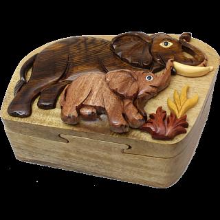 Elephant & Baby - 3D Puzzle Box