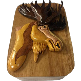 Moose Head - 3D Puzzle Box