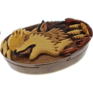 Wolf Howling - 3D Puzzle Box