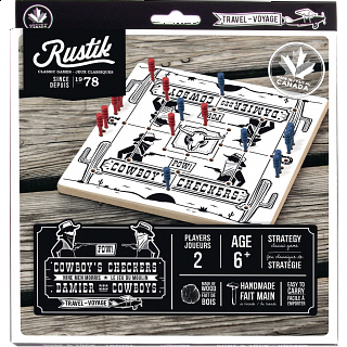 Cowboy's Checkers - Travel Game