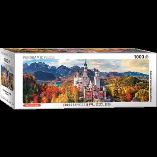 Neuschwanstein Castle in Autumn - Germany: Panoramic Puzzle