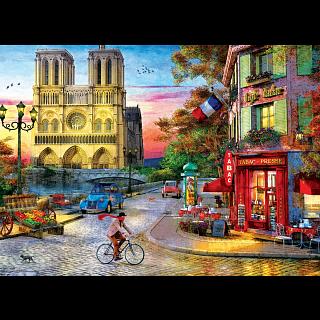Notre Dame Sunset - Dominic Davison
