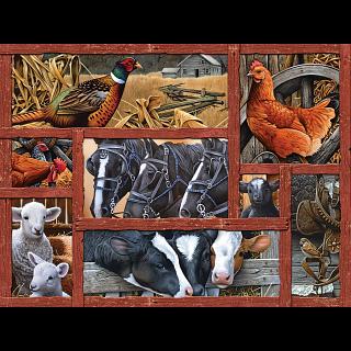 Farmyard Friends - Large Piece