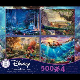 Thomas Kinkade: Disney 4 in 1 Jigsaw Puzzle Collection #6