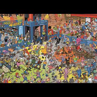 Jan van Haasteren Comic Puzzle - Roller Disco