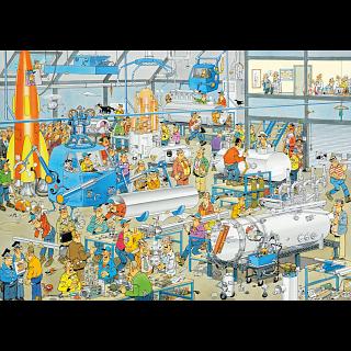 Jan van Haasteren Comic Puzzle - Technical Highlights