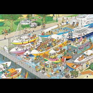 Jan van Haasteren Comic Puzzle - The Locks (2000 Pieces)