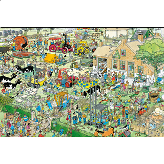 Jan van Haasteren Comic Puzzle - Farm Visit