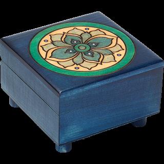 Blue Floral Puzzle Box