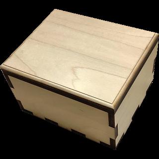 Hurricane Puzzle Box - Plain Maple