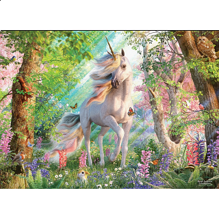 Unicorn In The Woods - Large Piece