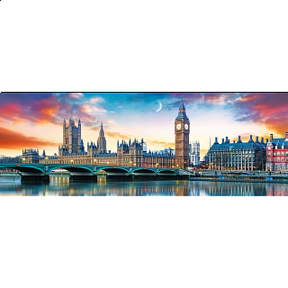 Panorama: Big Ben and Palace of Westminster, London