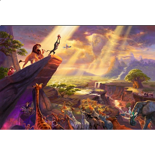 Thomas Kinkade: Disney - Lion King - Large Piece