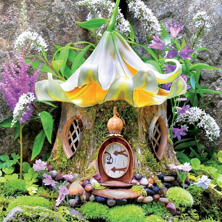 Fairy Houses: Lily Tea House - Large Piece