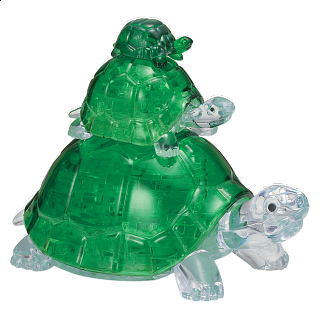 3D Crystal Puzzle - Turtles