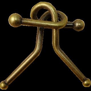 'F' - Antique Style Metal Puzzle