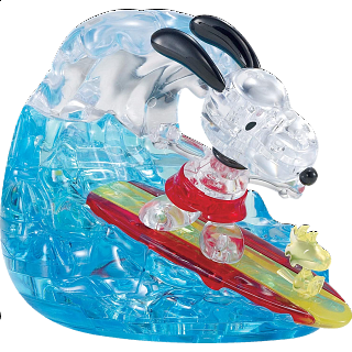 3D Crystal Puzzle - Snoopy Surf