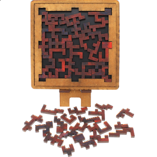 Puzzle Solution for Maze - Wooden Packing Puzzle