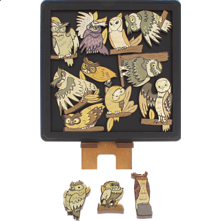 Puzzle Solution for Owls - Wooden Packing Puzzle