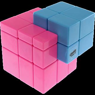 Gray Mirror Illusion Siamese - (Pink-Blue Body)