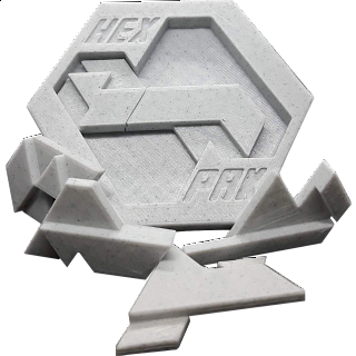 Hex Pak Two Layer Packing Puzzle