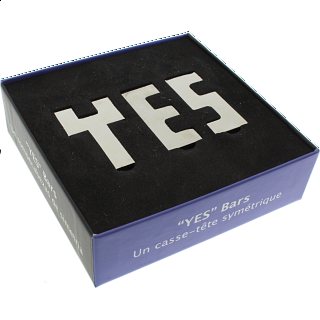"""YES"" Bars - Krasnoukhov Symmetry Puzzle"