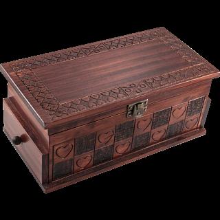 Heart Trick Box - Large Brown