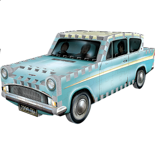 Harry Potter: Flying Ford Anglia - Wrebbit 3D Jigsaw Puzzle