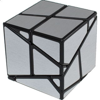 Ghost Skewb - Black Body with Silver Labels