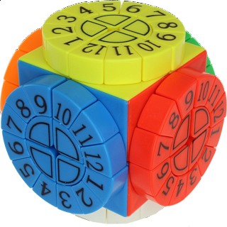 Time Machine Cube with Numbers - Stickerless