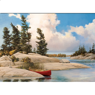 A Day At The Lake - Large Piece