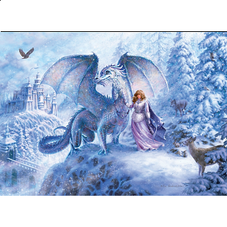 Ice Dragon - Family Pieces Puzzle