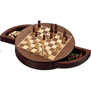 Rounded Chess Set - Magnetic (Field 25 mm)