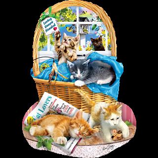 Free Kitties - Shaped Jigsaw Puzzle