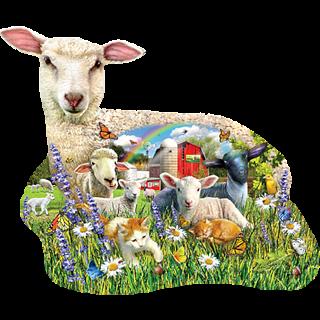Lamb Shop - Shaped Jigsaw Puzzle