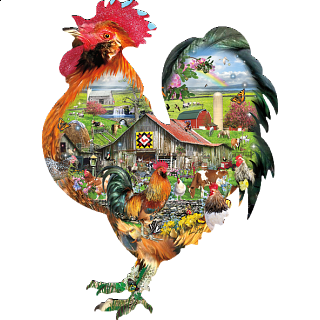 Rule the Roost - Shaped Jigsaw Puzzle