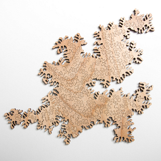 Infinity Wooden Jigsaw Puzzle - Natural