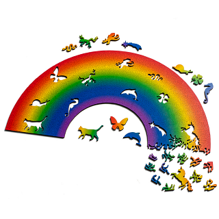 Rainbow Wooden Jigsaw Puzzle