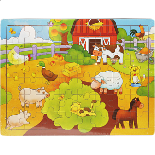 Little Moppet: Farm Wooden Tray Puzzle