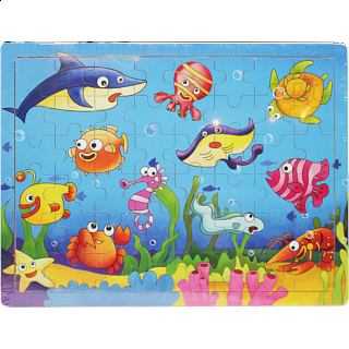 Little Moppet: Ocean Wooden Tray Puzzle