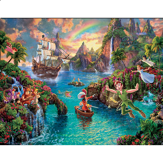 Thomas Kinkade: Disney 4 in 1 Jigsaw Puzzle Collection #7