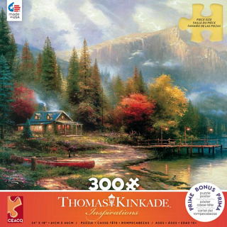 Thomas Kinkade: The End of a Perfect Day- Large Piece
